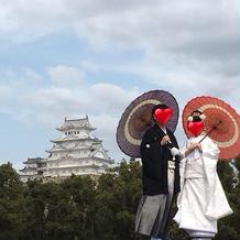 こんなにはっきり姫路城との写真がとれる!