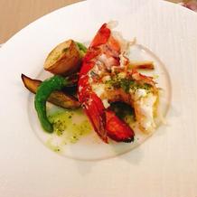 オマール海老の料理美味しかったです。