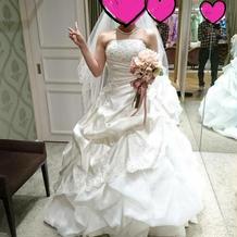 初めてのドレスでした