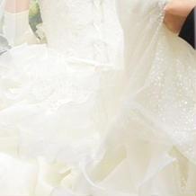 新婦ウェディングドレス背面