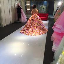 プラン外で、蜷川実花のドレスです。