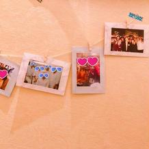 式場内に思い出の写真をたくさん飾りました