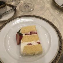 ケーキ入刀のケーキ!