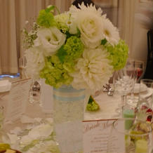 テーブル花の持ち帰りサービスがありました