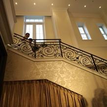 エントランスの階段も可愛いです