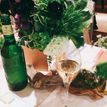 テーブル装花①