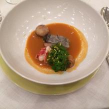 オマールエビと鮮魚