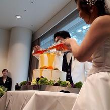 ケーキカットをドリップケーキに
