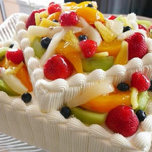 ケーキはシンプルながらもかわいかった!