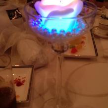 キャンドルサービス LEDで光ります。