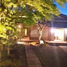 夕暮れのお庭