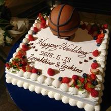 バスケットボールのケーキ