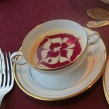 ローズプリンセス料理 スープ