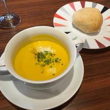 スープとパンです。