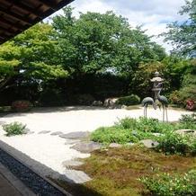 和のお庭。 正直これに一目惚れ。