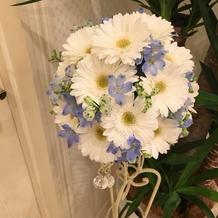 1番好きなお花で作ってもらいました。