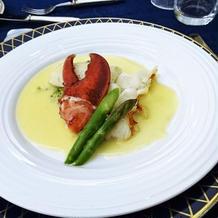 魚料理*鮃とオマールエビのマリアージュ