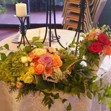 素敵なお花を飾って頂きました。