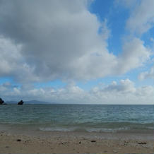 ヴィラのプライベートビーチ