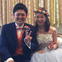 蝶ネクタイとベストは衣裳さんの手作り!