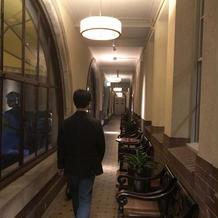 喫煙所として使用できる廊下あり