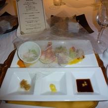 前菜と天ぷら