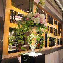 高砂横の装花