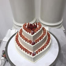 プラン内のケーキです