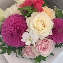 装飾のお花は式の後で配ってもらいました