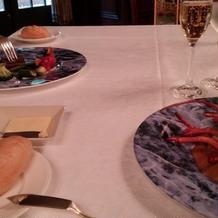 オマール海老と牛肉