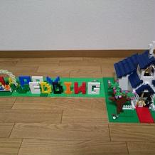 レゴでウェルカムグッズを作成しました。