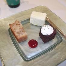 焼きケーキとチーズケーキ