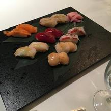 演出のお寿司の試食