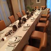 テーブルコーディネート少数人数の部屋