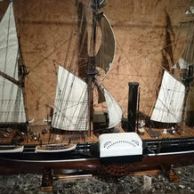 ペリー来航の景色の前にある模型