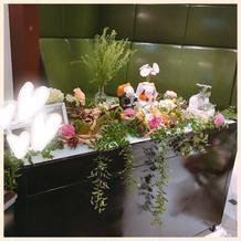 お花屋さんの装飾が素敵!これで1万円。