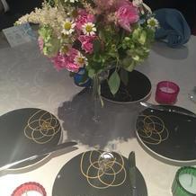 かわいいテーブル装飾