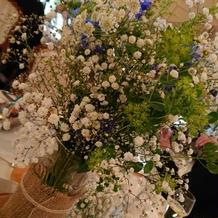 テーブル装花です