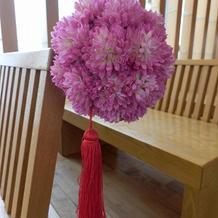 造花だそうですが、綺麗でした