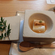 雲丹の葛豆腐。