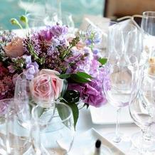ゲスト卓のお花