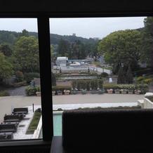 親族控室からの景色