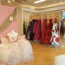 色ドレス1