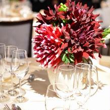 テーブル毎に違う装飾も素敵