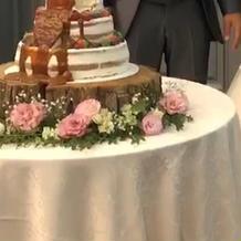 ウエディングケーキです
