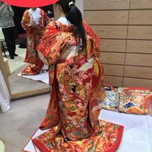 和装はとても豪華な感じでした。