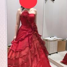 カラードレスも沢山種類がありました。