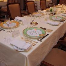 テーブルは長テーブルにしました。