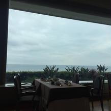 朝食ブッフェ会場からの景色も良かったです