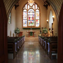 教会風の内装は非常に思い出になる